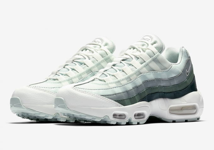 The Nike Air Max 95 Receives a Green Gradient Upgrade - blue and ...
