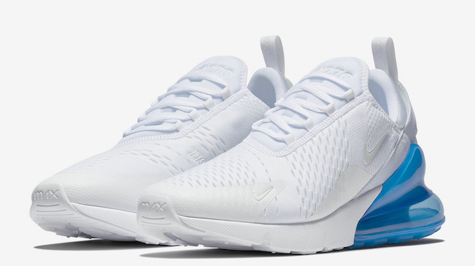 Franco Joven colegio  Nike Air Max 270 Photo Blue Returns With White Uppers - The Drop Date