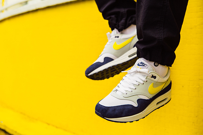 5fd53a3669 Nike Air Max 1 Tour Yellow: On-Foot Shots - The Drop Date