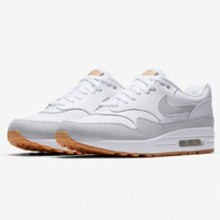 fa1bc3e855 The Nike Air Max 1 White/Gum Delivers Perforated Breathability for Summer