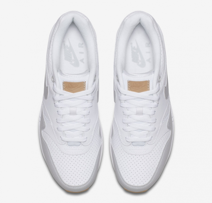 The Nike Air Max 1 WhiteGum Delivers Perforated