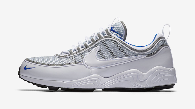 add3c7f4448f9 The NIKE ZOOM SPIRIDON WHITE AND PLATINUM BLUE is yet to be given an  official release date but we ll keep you in the know. For now