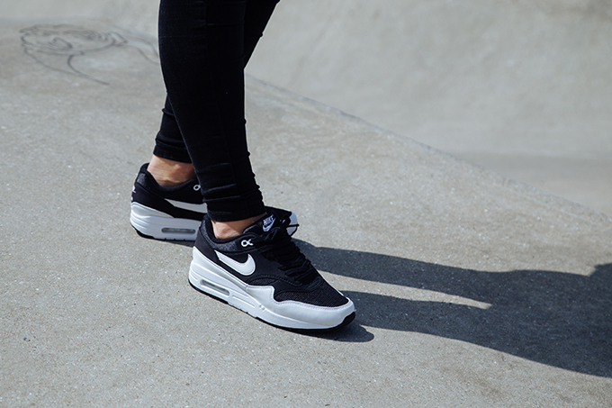 separation shoes fc874 a8d8b The NIKE AIR MAX 1 BLACK WHITE makes a return to the shelves in this  exclusive women s monochrome finish, captured on-foot as part of our  exclusive shoot ...