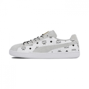 low priced dd712 7e48a PUMA x MCM Suede Classic - White - 26 MAY 2018 - The Drop Date