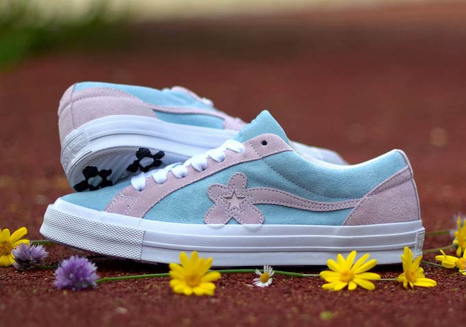 56a48bc2955394 The two-tone CONVERSE ONE STAR GOLF LE FLEUR collection is AVAILABLE NOW.  Follow the banner below to pick up a pair today.