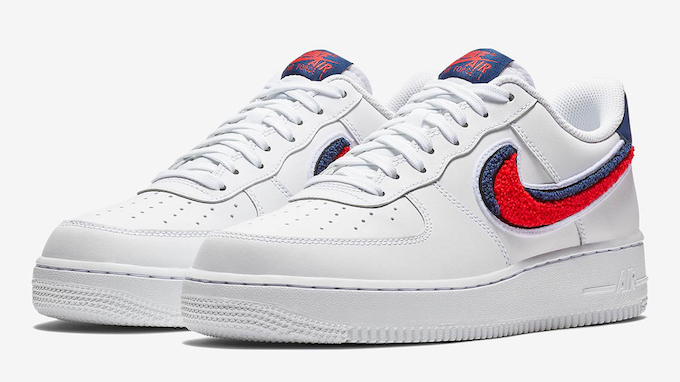26f43af83c7 Add Some Texture with the Nike Air Force 1 Low 07 LV8 Chenille Swoosh