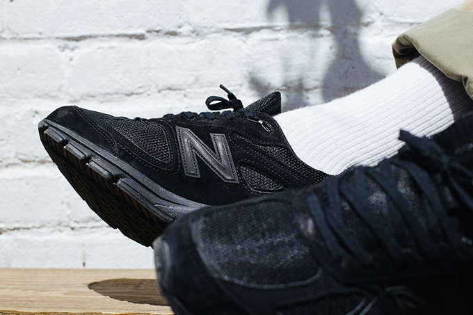 new concept aad5b 420be Back in Triple Black: On-Foot with the New Balance 990v4 ...