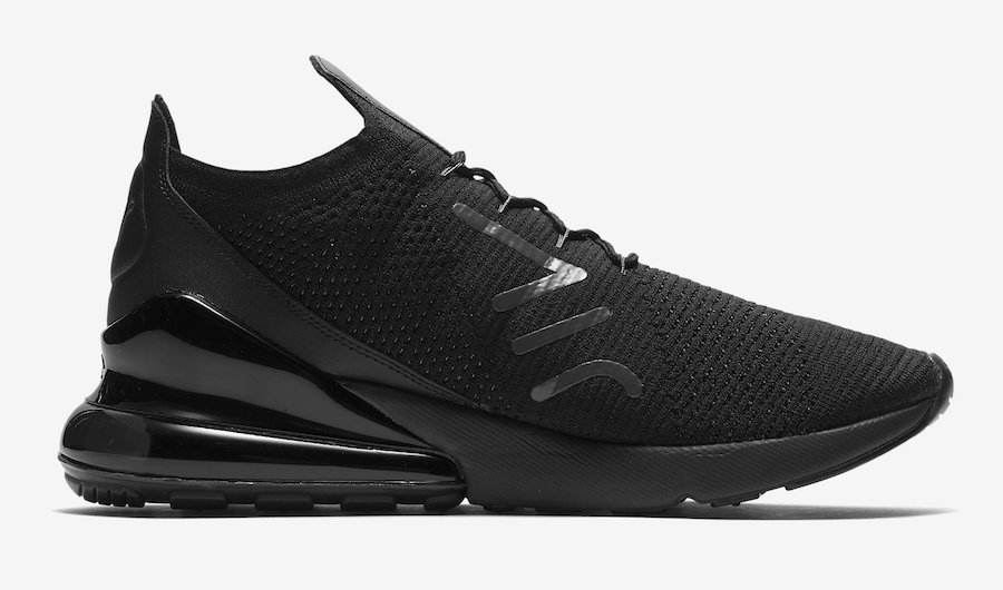 514d1737083 The Nike Air Max 270 Flyknit is Back in Black - The Drop Date