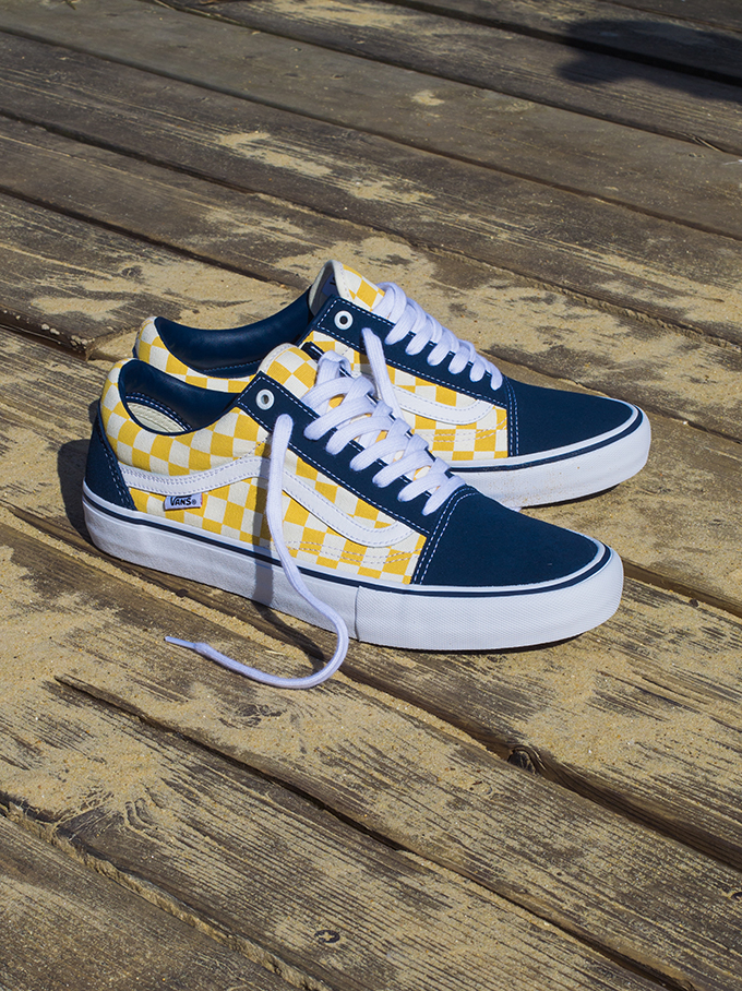 a2764af74b71bc A Closer Look at the Vans Checkerboard Old Skool Pro Dress Blue ...