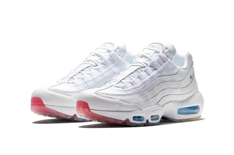 new arrival c9581 af2f3 The infamous Triple White colourway gets an upgrade across this gradient  gum soled NIKE AIR MAX 95.