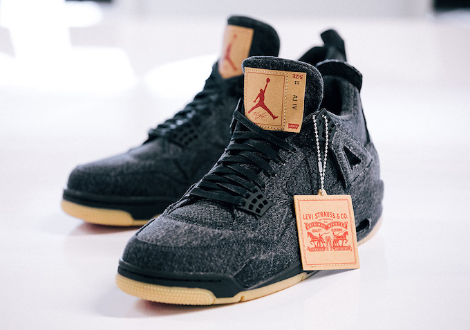 2fc16591363 More to Come  Levi s x Nike Air Jordan 4 Black Denim - The Drop Date