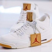 97195a897ec Stay Fly with the Levi's x Air Jordan 4 White Denim