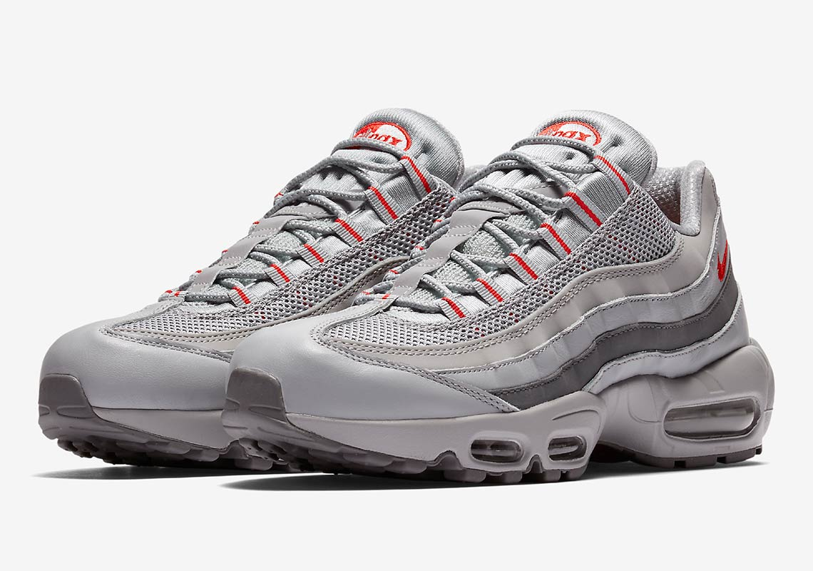hot sales 5d539 42726 The Nike Air Max 95 Silver & Red Steps into the Spotlight ...