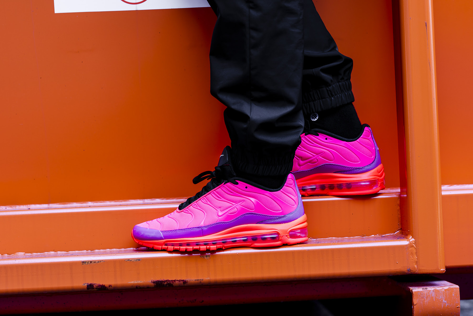6b8530057b8 Nike Air Max 97 Plus Racer Pink  On-Foot Shots by OVERKILL - The ...