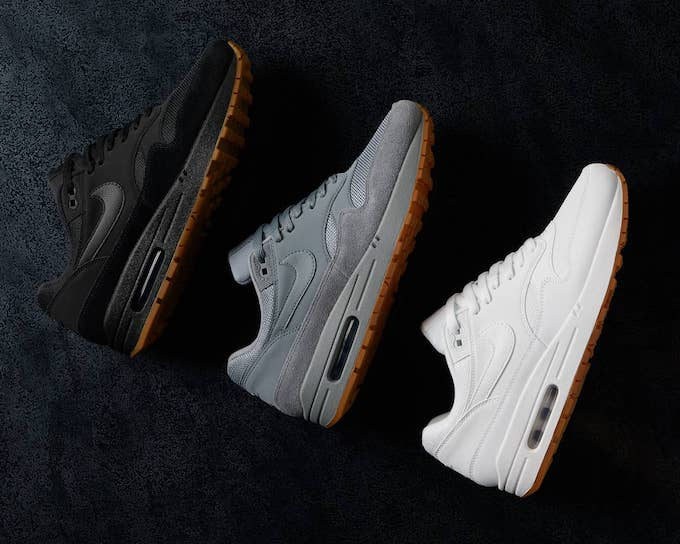 1b4e9371fded Nike opts for some classic sportswear gold with this gum-soled trio know as  the NIKE AIR MAX 1 TRIPLES.