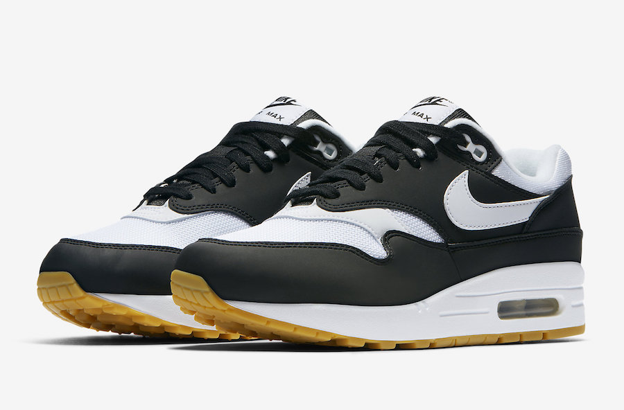 The Nike Air Max 1 Black and White is Finished with Gum