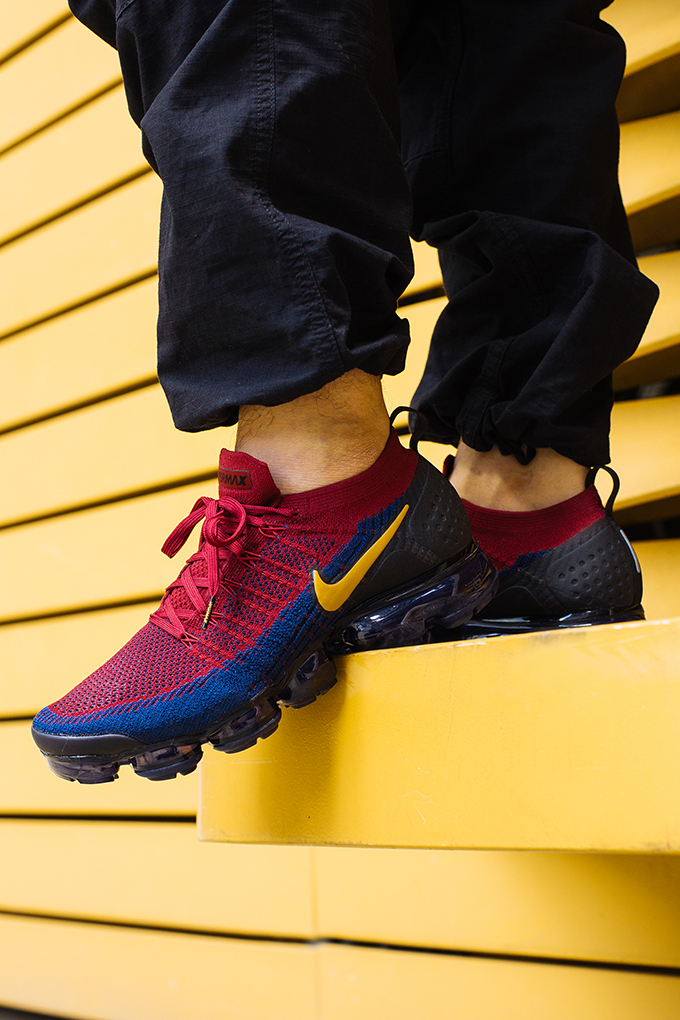 95a80c1540 Nike Air VaporMax Flyknit 2 Team Red: On-Foot Shots - The Drop Date
