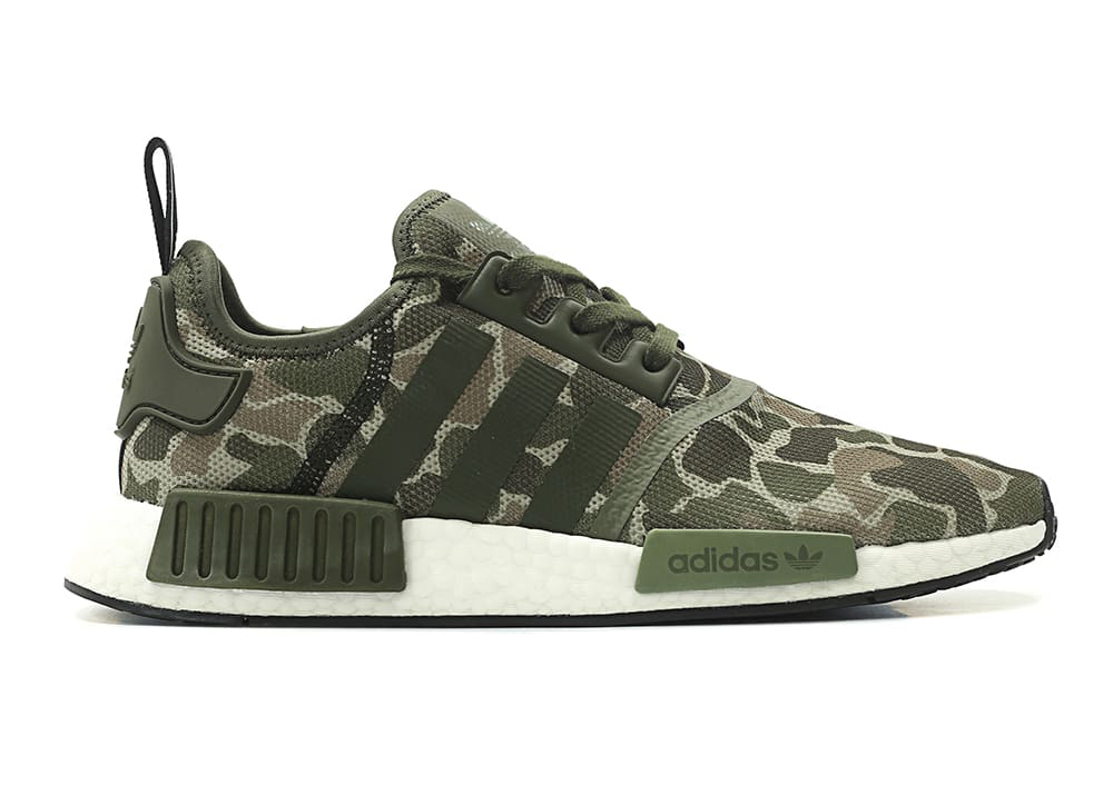 adidas delivers two takes on camo with the adidas originals nmd r1 boost khaki camo dark grey. Black Bedroom Furniture Sets. Home Design Ideas