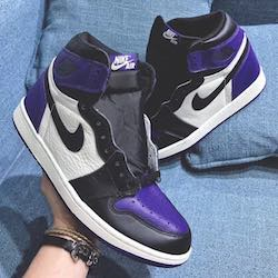 timeless design d5242 a685a First Glimpse of the Nike Air Jordan 1 Court Purple and Pine Green