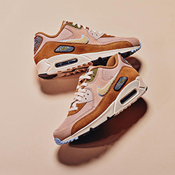 """Details about Nike Air Max 90 Premium SE """" Muted Bronze """" Chenille"""