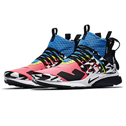 7abcd35d Neon Vibes with the ACRONYM x Nike Presto Mid in Racer Pink and Photo Blue