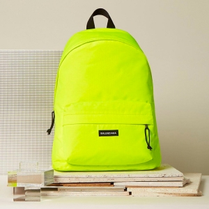 Turn up the voltage with this BALENCIAGA FLUORESCENT BACKPACK, hand-crafted from genuine neon stuff. Click the thumbnail to purchase.