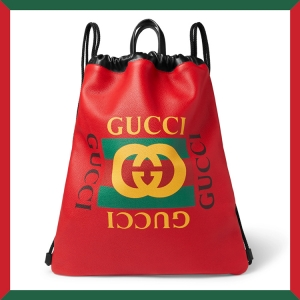 Drop a rack on a knapsack with this GUCCI LEATHER BACKPACK, available now. Click the thumbnail to shop.
