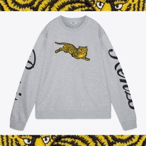 Easy tiger, this wild new embroidered sweat from the KENZO AW18 COLLECTION has just landed in stores. Click the pic to shop.