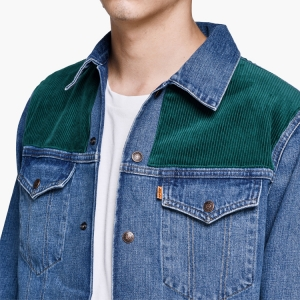 Go full corduroy cowboy with this contrast-patched LEVI'S VINTAGE CLOTHING TRUCKER JACKET, available now. Click the thumbnail to shop.