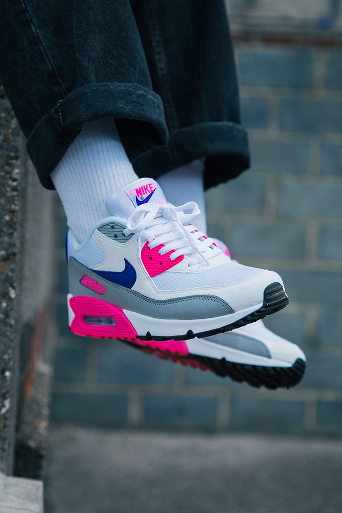 Nike Air Max 90 WMNS Court Purple  On-Foot Shots - The Drop Date 19d72deabe