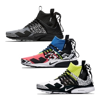 best service 39dad ac663 Nike x Acronym Air Presto Mid 20 SEP 2018
