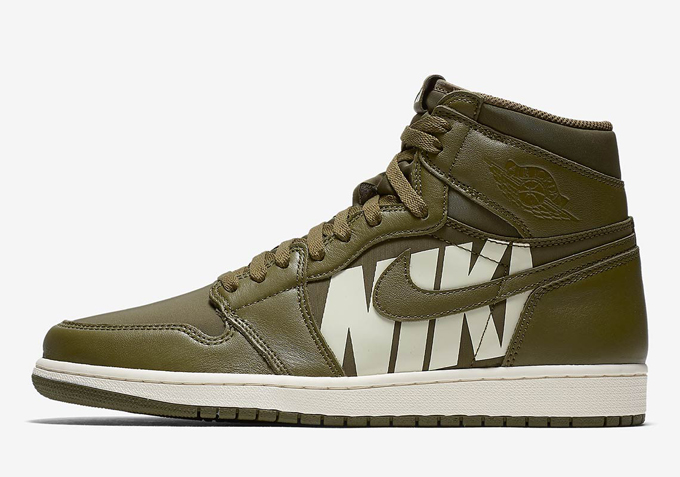 75ebfbe77041 Coming Soon  Nike Air Jordan 1 Retro High OG Olive Canvas - The Drop ...