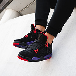 fff34029e151 Nike Air Jordan 4 Raptors  On-Foot by OVERKILL