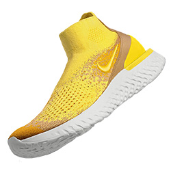nike rise react flyknit yellow thumb