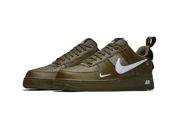 Nike Adds the Nike Air Force 1 LV8 Utility Olive Canvas