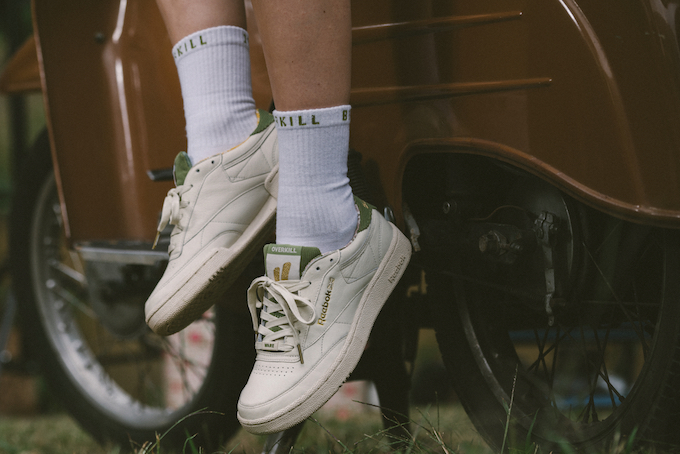 96ec7330202 Go Back in Time with the OVERKILL x Reebok Classic Club C 85 Berlin 1985