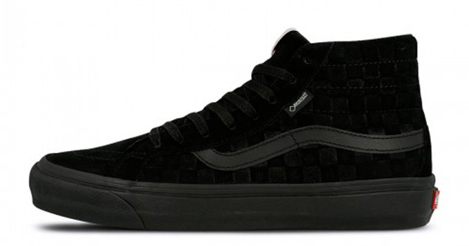 Available Now  Get GORE-TEX Ready with the Vans OG Sk8-Hi GTX LX Black    Navy 90684d5e7