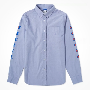 This CHAMPION X BEAMS SHIRT proves that logo density does't have to stop even if you've got an office job. Click the pic to shop now.