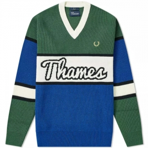 THAMES FRED PERRY ARGYLE KNIT