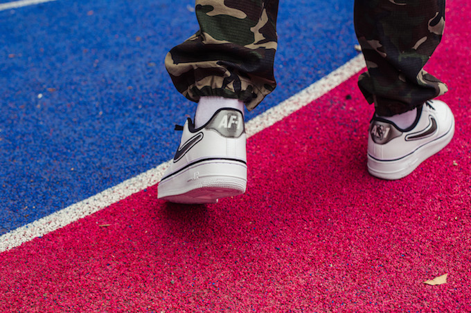 Nike Air Force 1 07 LV8 Sport NBA Edition: On Foot Shots