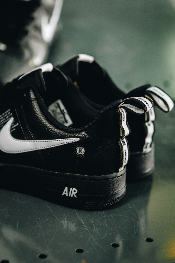 the latest d63fd f69ad The post A Closer Look at the Nike Air Force 1 07 LV8 Utility Black  appeared first on The Drop Date.