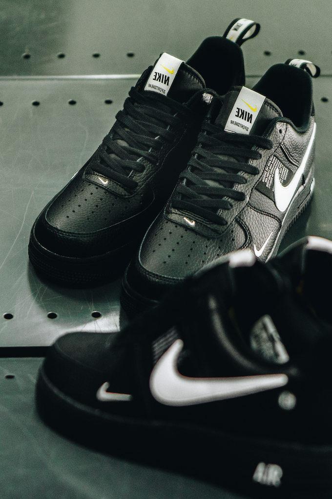 A Closer Look At The Nike Air Force 1 07 Lv8 Utility Black