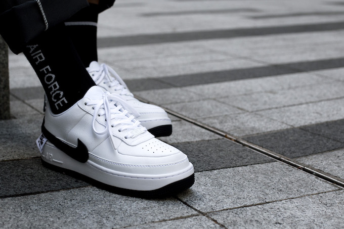 Nike Air Force 1 Jester XX WhiteBlack: On Foot Shots The