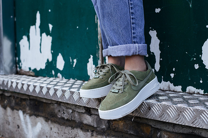 On Foot Shots: The Nike Air Force 1 Sage Low Remixes The
