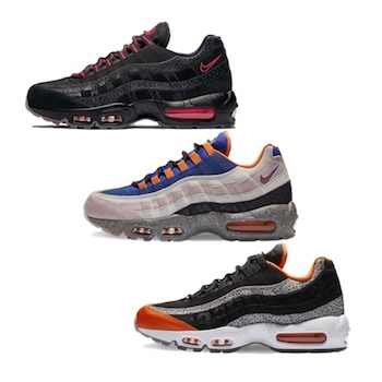 half off c726f d02c0 Nike Air Max 95 Greatest Hits PACK. Black   Infrared - Champagne   Safety  Orange ...