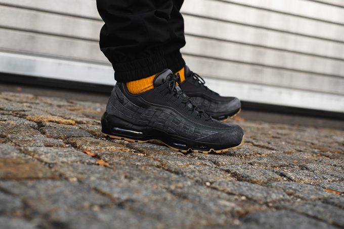 2d96d1949e Gum outsoles hit the NIKE AIR MAX 95 SE, showcased in these on-foot shots  from OVERKILL.