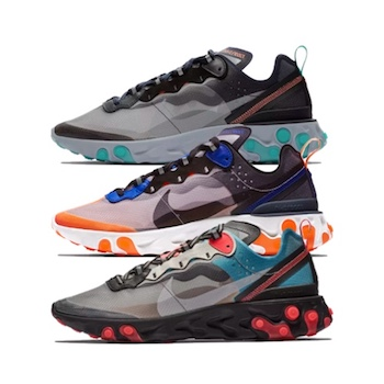 2f416e4174c6 Nike React Element 87 - SOLAR RED   NEPTUNE BLUE   TOTAL ORANGE - 11 ...