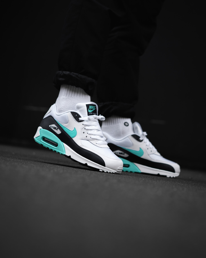 buy popular b3aee a1cdd Nike Air Max 90 Aurora Green  On-Foot Shots by OVERKILL