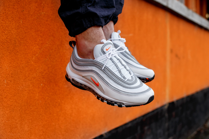 abeee9d8b4d Nike Air Max 97 Cone White  On-Foot Shots - The Drop Date