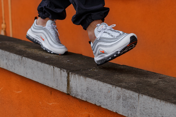 Nike Air Max 97 Cone White On Foot Shots The Drop Date